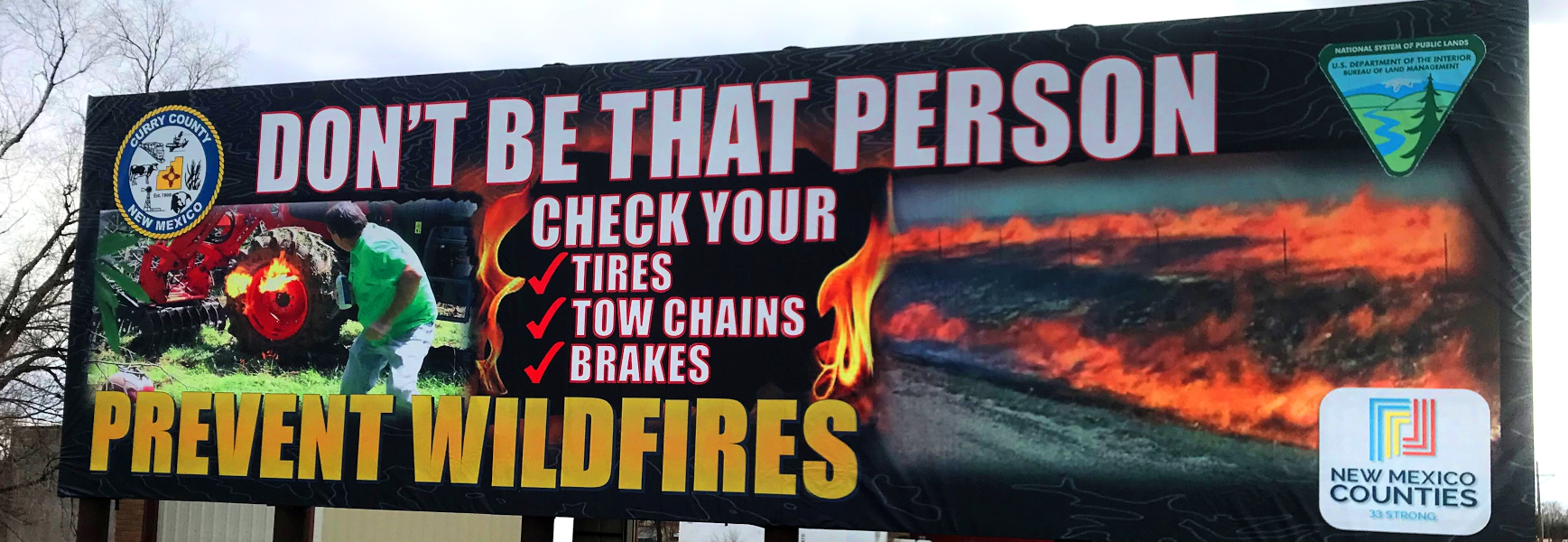 Wildfire Prevention Billboard