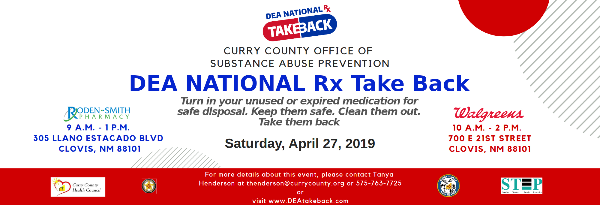 DEA Takeback  Day Slider